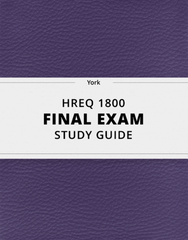 [HREQ 1800] - Final Exam Guide - Everything you need to know! (78 pages long)