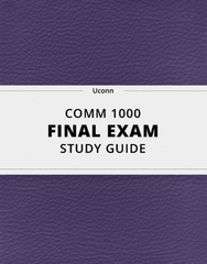 [COMM 1000] - Final Exam Guide - Everything you need to know! (44 pages long)