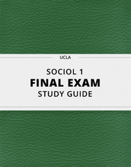 [SOCIOL 1] - Final Exam Guide - Everything you need to know! (30 pages long)