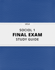 [SOCIOL 1] - Final Exam Guide - Comprehensive Notes for the exam (152 pages long!)