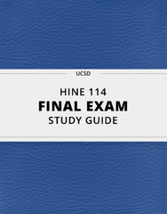 [HINE 114] - Final Exam Guide - Comprehensive Notes for the exam (50 pages long!)