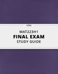 [MAT223H1] - Final Exam Guide - Everything you need to know! (89 pages long)