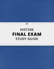 [HIST206] - Final Exam Guide - Comprehensive Notes for the exam (97 pages long!)