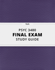 [PSYC 3480] - Final Exam Guide - Ultimate 85 pages long Study Guide!
