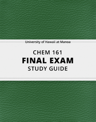 [CHEM 161] - Final Exam Guide - Everything you need to know! (23 pages long)