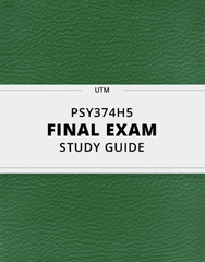 [PSY374H5] - Final Exam Guide - Ultimate 26 pages long Study Guide!