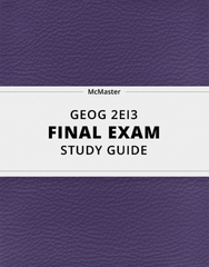 [GEOG 2EI3] - Final Exam Guide - Ultimate 33 pages long Study Guide!