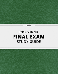 [PHLA10H3] - Final Exam Guide - Comprehensive Notes for the exam (60 pages long!)