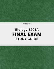 [Biology 1201A] - Final Exam Guide - Comprehensive Notes for the exam (45 pages long!)