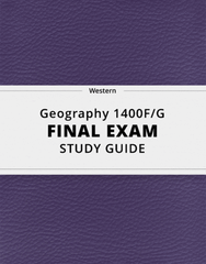 [Geography 1400F/G] - Final Exam Guide - Comprehensive Notes for the exam (29 pages long!)