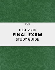 [HIST 2800] - Final Exam Guide - Ultimate 48 pages long Study Guide!