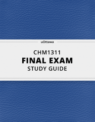 [CHM1311] - Final Exam Guide - Comprehensive Notes for the exam (69 pages long!)