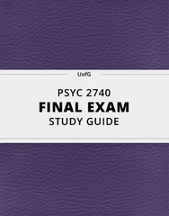 [PSYC 2740] - Final Exam Guide - Ultimate 40 pages long Study Guide!