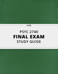 [PSYC 2740] - Final Exam Guide - Everything you need to know! (24 pages long)