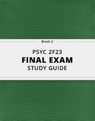 [PSYC 2F23] - Final Exam Guide - Comprehensive Notes for the exam (22 pages long!)