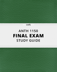 [ANTH 1150] - Final Exam Guide - Everything you need to know! (56 pages long)