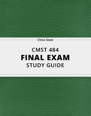 [CMST 484] - Final Exam Guide - Everything you need to know! (33 pages long)