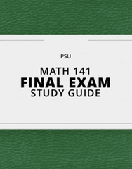 [MATH 141] - Final Exam Guide - Everything you need to know! (111 pages long)