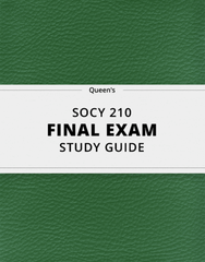 [SOCY 210] - Final Exam Guide - Comprehensive Notes for the exam (38 pages long!)