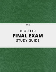 [BIO 3110] - Final Exam Guide - Comprehensive Notes for the exam (27 pages long!)