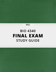 [BIO 4340] - Final Exam Guide - Everything you need to know! (41 pages long)
