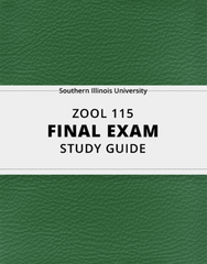 [ZOOL 115] - Final Exam Guide - Comprehensive Notes for the exam (80 pages long!)