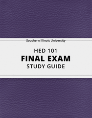 [HED 101] - Final Exam Guide - Comprehensive Notes for the exam (69 pages long!)
