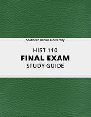 [HIST 110] - Final Exam Guide - Comprehensive Notes for the exam (42 pages long!)
