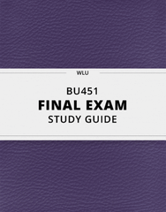 [BU451] - Final Exam Guide - Ultimate 29 pages long Study Guide!