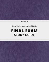 [Health Sciences 3101A/B] - Final Exam Guide - Ultimate 36 pages long Study Guide!