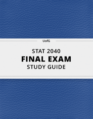 [STAT 2040] - Final Exam Guide - Comprehensive Notes for the exam (60 pages long!)
