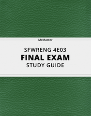 [SFWRENG 4E03] - Final Exam Guide - Ultimate 95 pages long Study Guide!