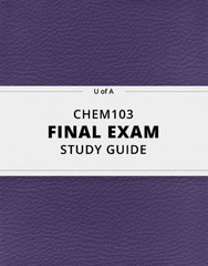 [CHEM103] - Final Exam Guide - Comprehensive Notes for the exam (42 pages long!)