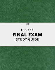 [HIS 111] - Final Exam Guide - Everything you need to know! (47 pages long)
