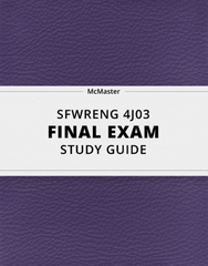 [SFWRENG 4J03] - Final Exam Guide - Everything you need to know! (30 pages long)