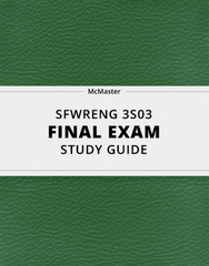 [SFWRENG 3S03] - Final Exam Guide - Ultimate 26 pages long Study Guide!