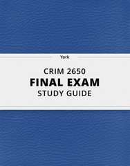 [CRIM 2650] - Final Exam Guide - Everything you need to know! (23 pages long)