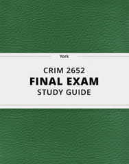 [CRIM 2652] - Final Exam Guide - Everything you need to know! (29 pages long)
