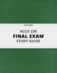 [ACCO 230] - Final Exam Guide - Ultimate 77 pages long Study Guide!