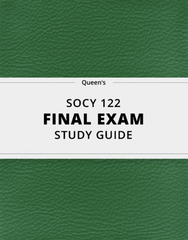 [SOCY 122] - Final Exam Guide - Ultimate 201 pages long Study Guide!