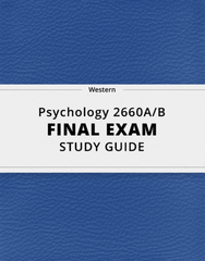 [Psychology 2660A/B] - Final Exam Guide - Ultimate 42 pages long Study Guide!