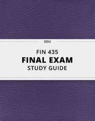 [FIN 435] - Final Exam Guide - Everything you need to know! (47 pages long)
