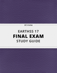 [EARTHSS 17] - Final Exam Guide - Everything you need to know! (39 pages long)