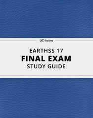 [EARTHSS 17] - Final Exam Guide - Everything you need to know! (34 pages long)