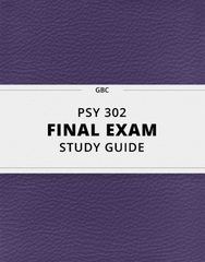 PSY302 Study Guide - Comprehensive Final Guide: Psy, Social Market Economy, Gender Role