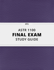 [ASTR 1100] - Final Exam Guide - Comprehensive Notes for the exam (34 pages long!)