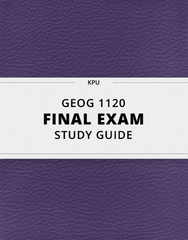 [GEOG 1120] - Final Exam Guide - Everything you need to know! (44 pages long)