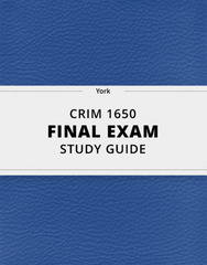 CRIM 1650 Study Guide - Comprehensive Final Guide: Social Disorganization Theory, Earnest Hooton, White-Collar Crime