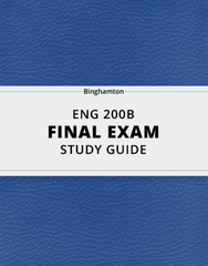 [ENG 200B] - Final Exam Guide - Everything you need to know! (26 pages long)