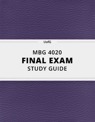 [MBG 4020] - Final Exam Guide - Comprehensive Notes for the exam (38 pages long!)